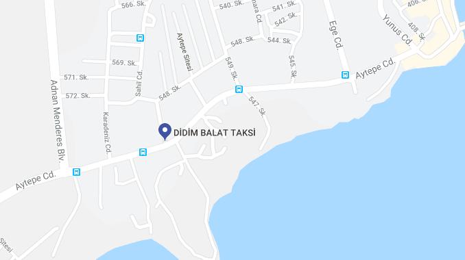 Didim Balat Taksi Harita